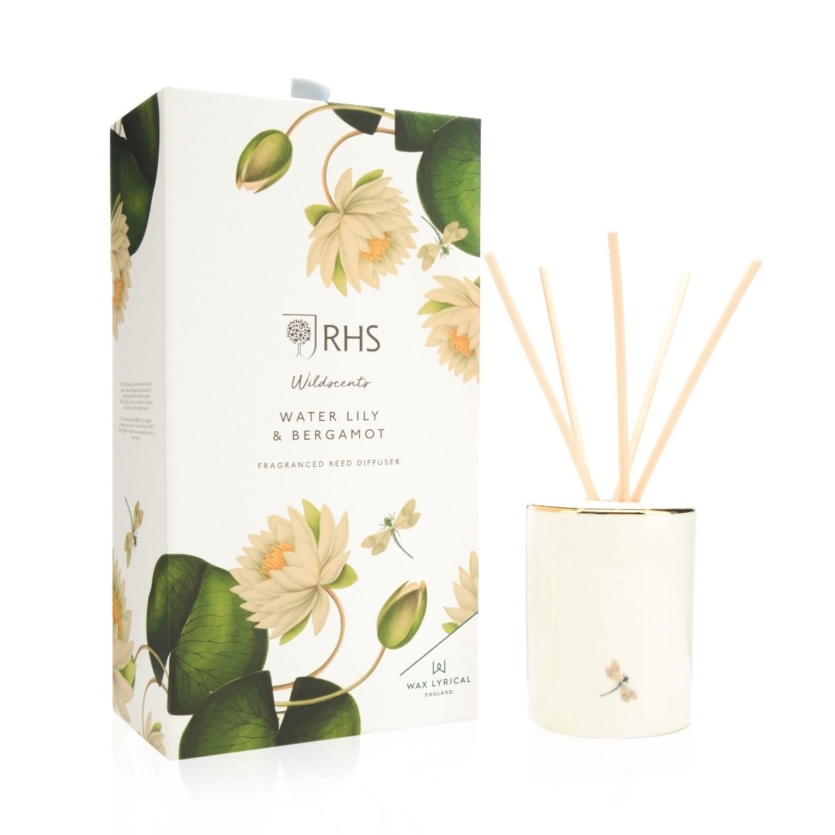 Water Lily & Bergamot Ceramic Reed Diffuser in Gift Box