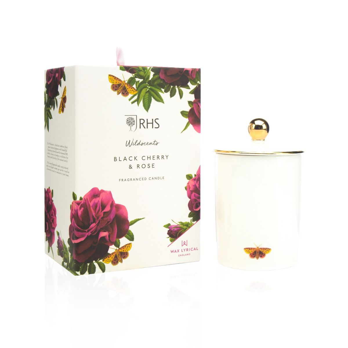 Black Cherry & Rose Ceramic Candle