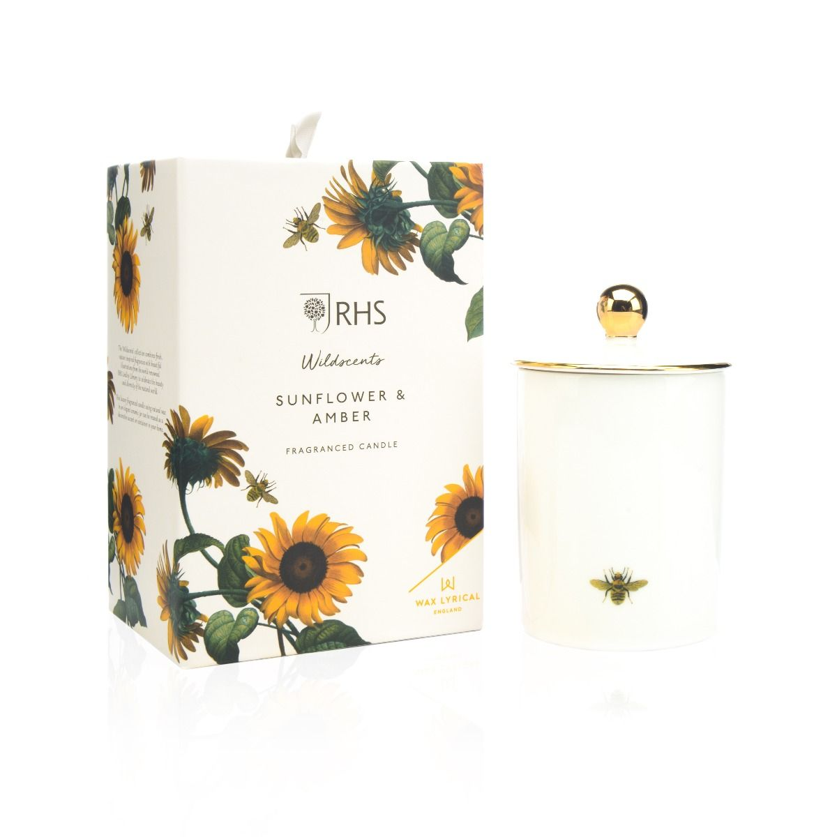Sunflower & Amber Ceramic Candle