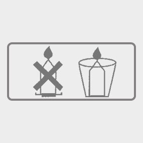 Use a suitable container as these candles liquify when burning