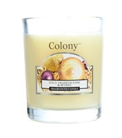 Colony Gold, Frankincense and Myrrh Scented Votive Candle in Holder
