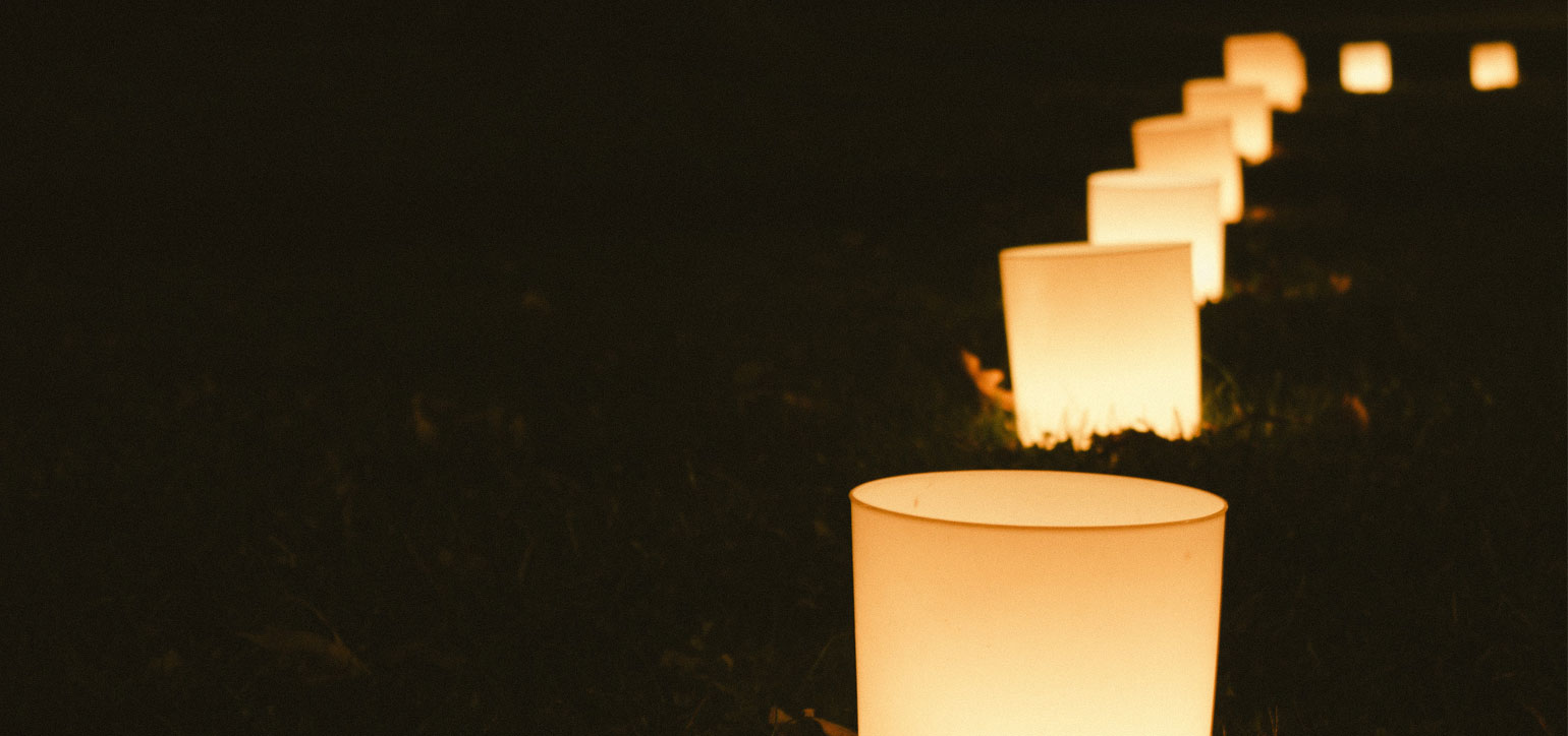 Candles in the garden