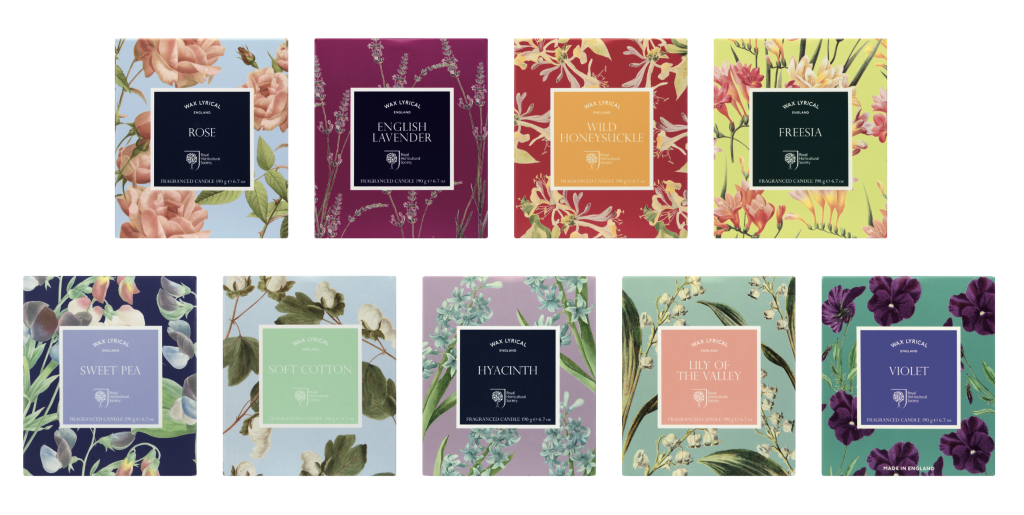 RHS Fragrant Garden home fragrance collection