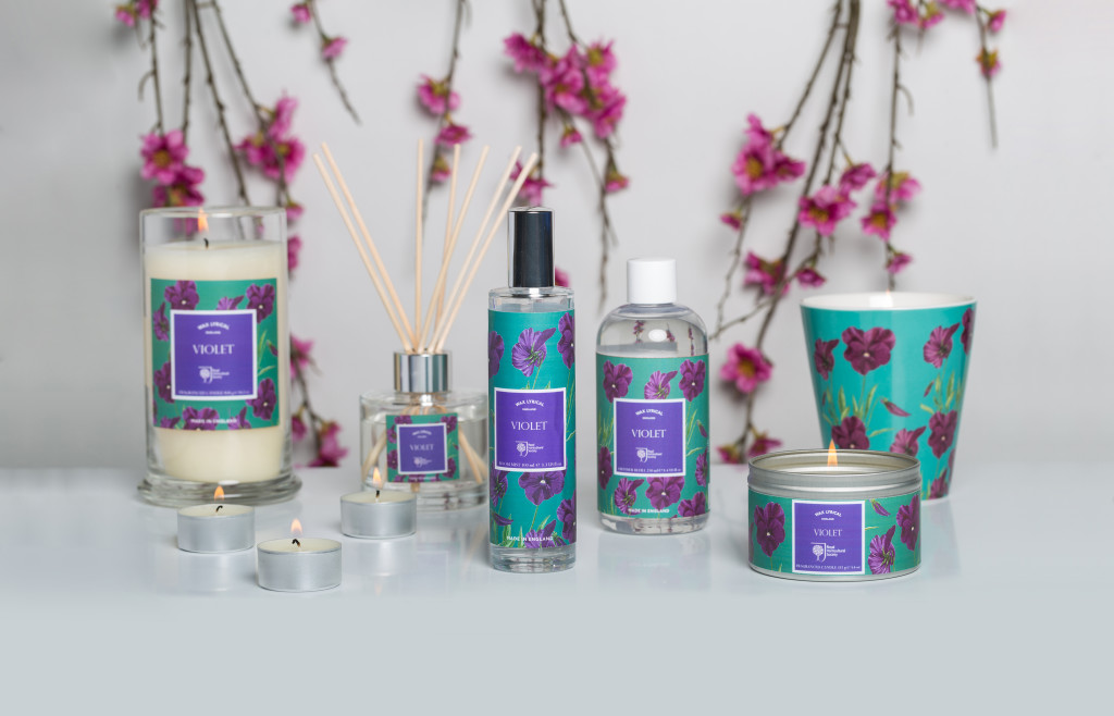 RHS Violet home fragrance collection